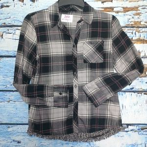 Justice Girl's Flannel Shirt Size 12!